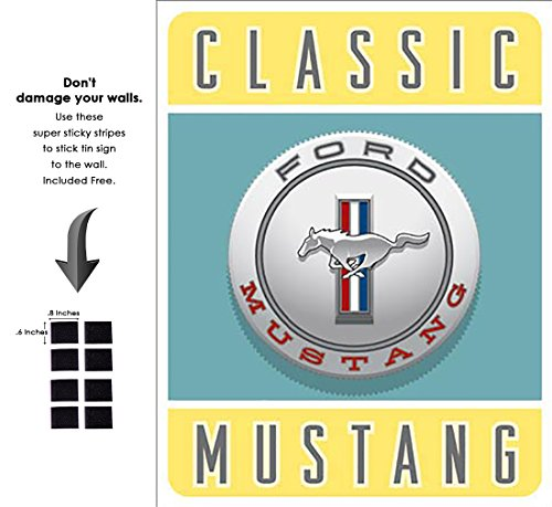 Shop72 - Tin Sign Ford - Classic Mustang Vintage Tin Sign Retro Metal Sign