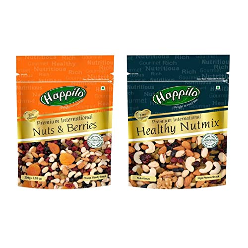 HappiloPremium International Nuts and Berries, 200g and HappiloPremium International Healthy Nutmix, 200g