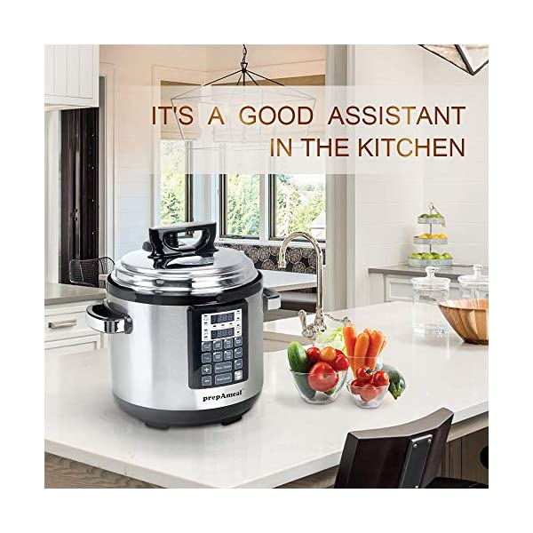 prepAmeal 6QT 8-IN-1 ( 3 Speeds Options ) Pressure Cooker with Accessories Set, Multi-Use Programmable Instant Cooker… 7