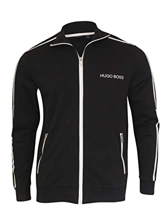 26a08ea13 Hugo Boss Tracksuit Jacket with Logo Taping 50403153 001 Black at Amazon  Men's Clothing store: