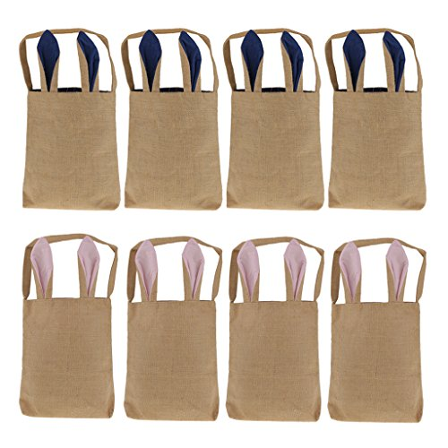 Blesiya 8Pcs Easter Bags Bunny Ears Bags Tote Bag Carrying E