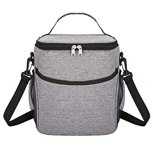 Kylinyyl Insulated Lunch Box Lunch Bag for Adults Men Women, Soft Cooler Bag, Water-Resistant Leakproof Thermal Bag for Work/School/Picnic]()