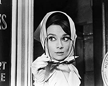 118dd6a2bd40b Image Unavailable. Image not available for. Color  Audrey Hepburn Charade  Sunglasses   Scarf Classic 16x20 Canvas Giclee