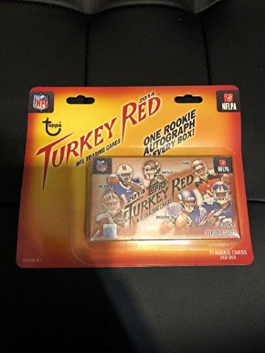 Topps Red Football (2014 Topps Turkey Red Football Cards Unopened Box (1 Pack/11 Cards: 1 Autograph per box) Possible Derek Carr, Jimmy Garoppolo, Teddy Bridgewater, Sammy Watkins Autosgraphs))