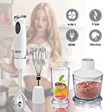 THZY Immersion Hand Blender, Powerful 400 Watt 4-in-1 Stainless...