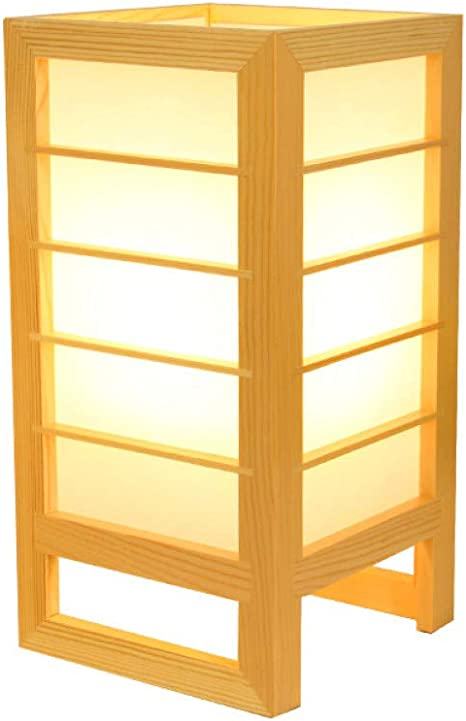 KIODS Nachttischlampe Einfache Holz tischlampen für Wohnzimmer led Bett Lampe nachttischlampe ...