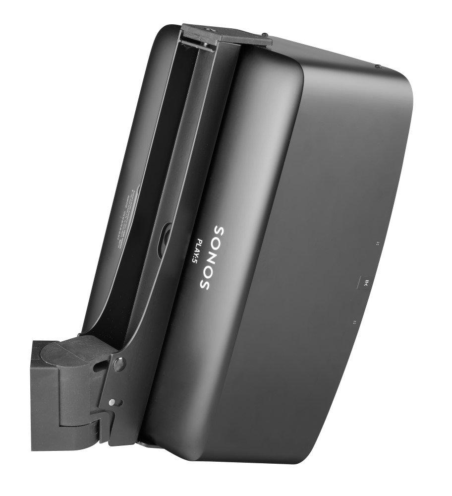 Black -Single Sonos Play 1 wall mount Cavus CMP1B Full motion wall bracket suitable for Sonos play 1