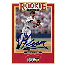 Autograph Warehouse 344012 Dario Veras Autographed Baseball Card - San Diego Padres FT 1997 Upper Deck Rookie Class No. 23