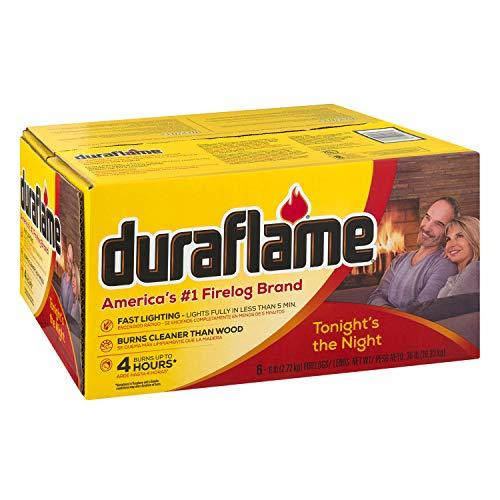duraflame 6lb 4-hr Firelogs, 6 pack (Duraflame 6 Hour Logs)