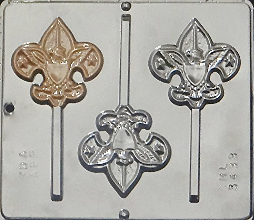 Candy Molds N More Boy Scout Lollipop Chocolate Candy Mold 3433 -