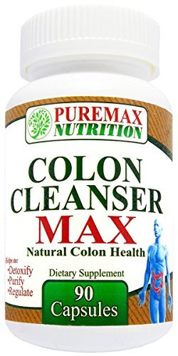 Colon Cleanse ★ Colon Cleanser MAX ★ Best All Natural Herbal Laxative for a Super Clean Colon and Bowel - Gentle, Safe and Effective Over The Counter way to Cleanse Colon - Fast Healthy Colon Cleansing using a Natural Laxative Action - Top Quality OTC Ingredients in Capsules to Eliminate Constipation and Cleanse Colon at the Same Time