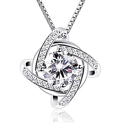 "B.Catcher Necklaces Silver Windmill Pendant Cubic Zirconia Box Chain Necklace 45cm,18"" Valentines Day Gift"