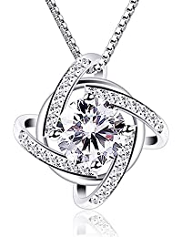 Necklaces Silver Windmill Pendant Cubic Zirconia Box...