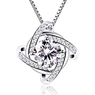 Necklaces Silver Womens Jewelry Windmill Pendant Cubic Zirconia Box Chain Necklace