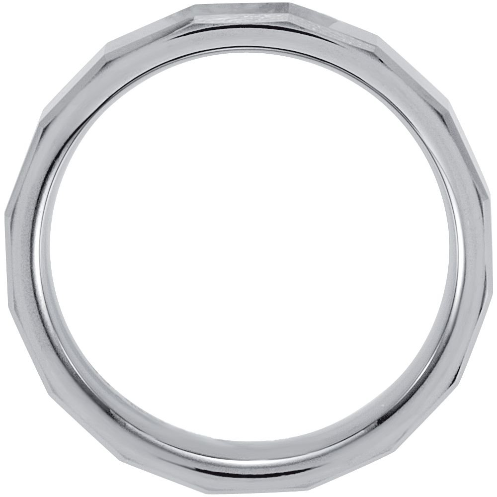 Security Jewelers Tungsten 6.3mm Square Beveled Band Size 9.5 Ring Size 9.5