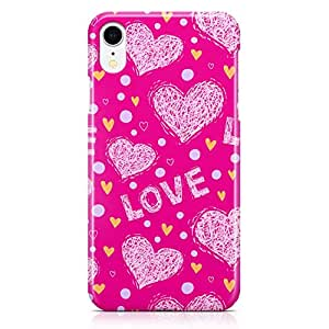 Loud Universe Case for iPhone XR Wrap Around Edges Valentines Day Couples Love Heart Pattern Sleek Design Heavy Duty Rugged iiPhone XR Cover