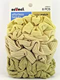 Scunci Color Match Mixed Knit Twister Blonde Hair Scrunchies - 8 Pcs.