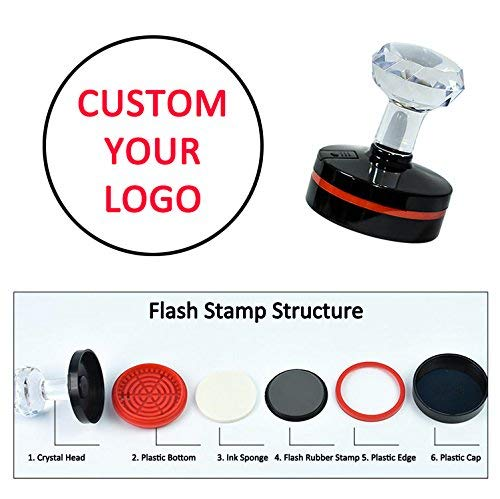 Custom Address Stamp Self Inking Personalized Heart Shape Crown Fox Business Stamps Merry Christmas Rubber Stamper