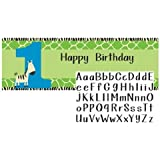 Creative Converting Wild at One Zebra Giant Party Banner with Customizable Stickers