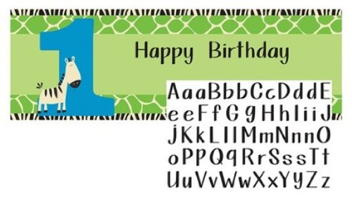 Creative Converting Banner Customizable Stickers