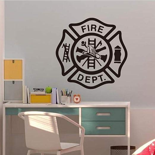 Firefighter Wall Sticker Art