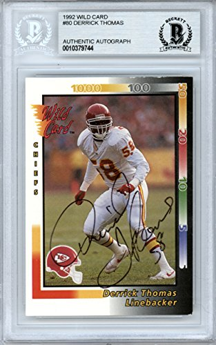Kansas City Chiefs Wild Card - Derrick Thomas Autographed 1992 Wild