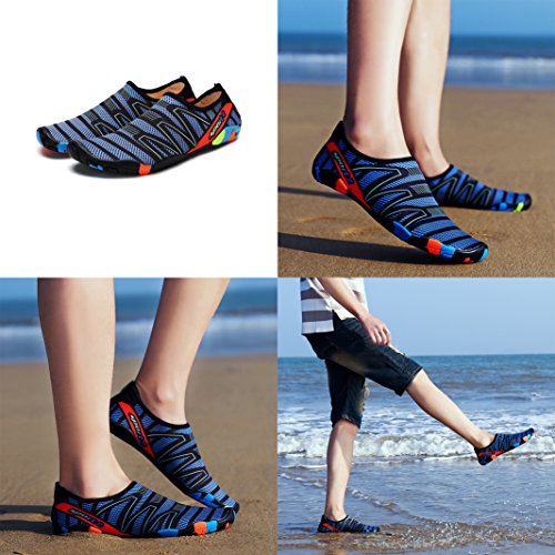 Water Dark Swim Skin 2 Women Houtby Pool Surf for Aqua Socks Yoga Dry Unsex Barefoot Soft Men Blue Exercise Beach Shoes Quick wxw1IaHFfq