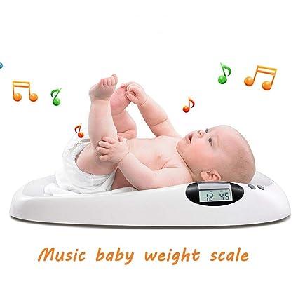WRMING® Con Musica Balanza Para Bebes Balanza Eléctrica Para Bebés Báscula Para Niño