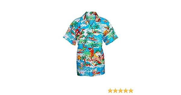 SAITARK - Camisa hawaiana de Navidad para hombre Multicolor Td Hawai S: Amazon.es: Ropa y accesorios