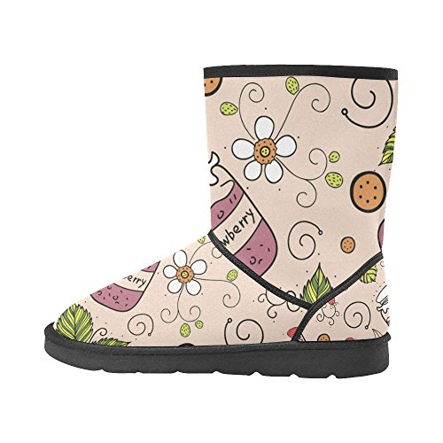 Boots 5 Snow Womens Color14 Size 12 5 Ethnic Tribal Classic Graphic Pattern colorful Ladies Abstract InterestPrint Doodle Designs qxBUX11