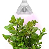 indoor grow light bulb - Sandalwood LED Plant Grow Light for Hydroponic Garden and Greenhouse, 12W, E27 Socket, 3 Bands