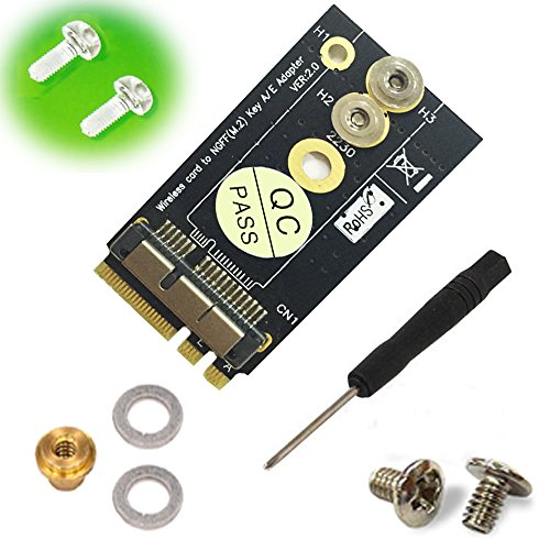 BCM94360CS2/HLT BCM943224PCIEBT2 Card To NGFF(M.2) Key A/E Adapter For Mac OS by HLT (Image #2)