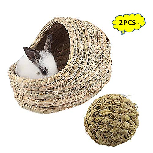 kathson Woven Pet hay Bed for Hamsters, Guinea-Pigs, Rabbits ,Cats and Other Small Animal