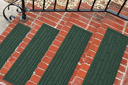 Aqua Shield Broken Brick Stair Treads, 8.5 by 30-Inch, Evergreen, Set of 4 (Outdoor Patio Brick Flooring)