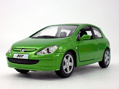 5 inch - 2001 Peugeot 307 XLI 1/32 Scale Diecast Model - GREEN