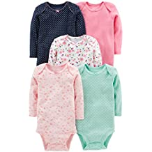 Simple Joys by Carter's Baby Girls 5-Pack Long-Sleeve Bodysuit