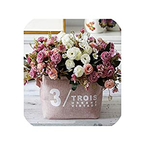 Maja Shop-Artificial Flower Silk Bouquet Artificial Flowers Wedding Display Flower European Style Carnation Home Decoration 41