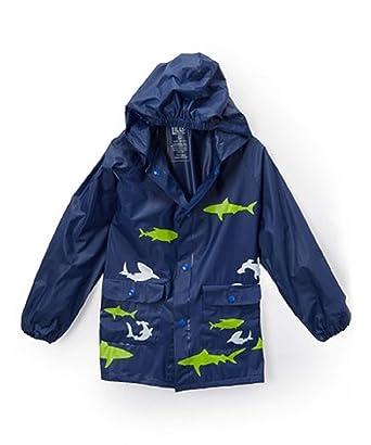 3ac0eb9e0 Amazon.com: Navy & Green Shark Rain Jacket - Infant & Toddler Size ...