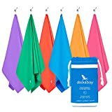 #5: Microfiber Towel & Pouch - Quick Dry Towel, Lightweight & Compact (Extra Large XL 78x35