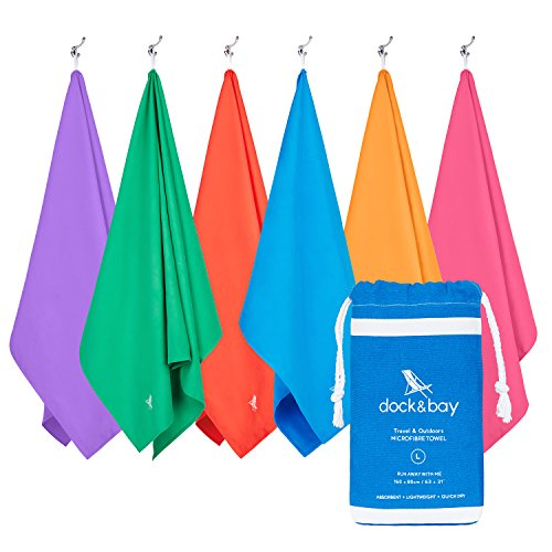 Dock & Bay Microfiber Towel - Travel & Outdoors  - quick dry