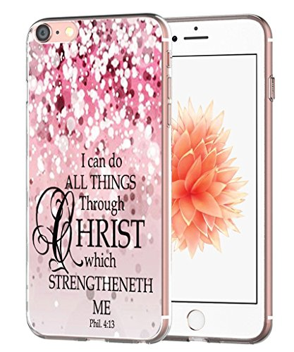 Case for 7 Bible Verse Protective - Case for 8 - Topgraph [Exact Slim Fit Clear with Design Full Coverage] Bumper Compatible for iPhone 8/7 [Christian Jesus Clear Soft TPU]