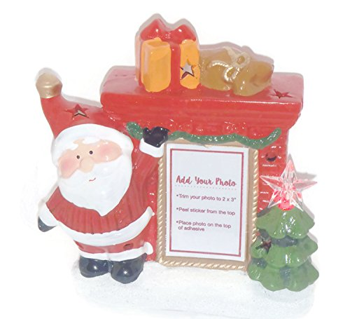 Amazoncom Light Up Santa Ceramic Christmas Picture Frame