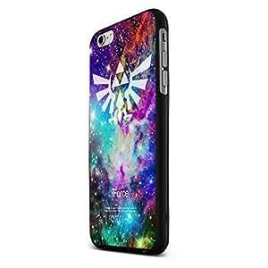 Galaxy Fox Zelda Triforce Nebula Colour Custom Case for Iphone 5/5s/6/6 Plus (Black iPhone 6 plus)