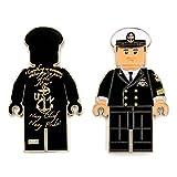 "US Navy Lego Male Officer in Black Uniform, Chief Petty Officer (CPO) Chief Dress Mess ""Navy Chief, Navy Pride"" Challenge Coin M-BLK"