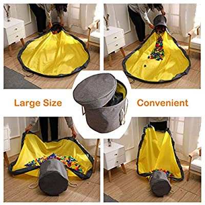 Play Mat and Toy Storage Bag for Kids, Large Toy Storage Organizer Baskets, Drawstring Portable Container Storage, Toy Organizer : Baby