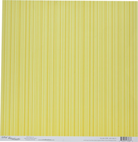 Core'dinations Core Basics Patterned Cardstock, 12 x 12 inches - Yellow Stripes (12 Sheets per ()