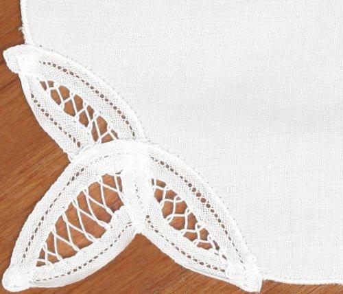 UPC 801186463319, Creative Linens Battenburg Lace Napkin Set WHITE, 12 Pieces