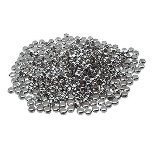 SODIAL 400Pcs Silver Tone Crimp Beads 4mm