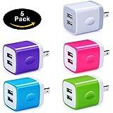 Travel USB Wall Charger,NINIBER 2.1A/5V Dual Port USB Wall Charger Plug Power Adapter Charger Cube for iPhone X 8/7/6 Plus iPad iPod,Samsung Galaxy S9