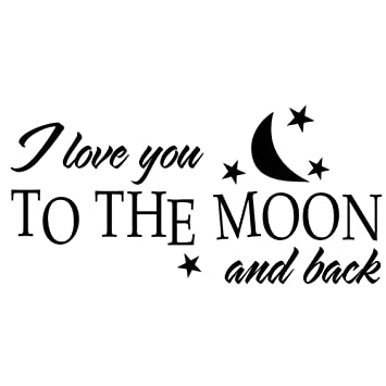 Caolator Wandtattoo I Love You To The Moon Englische Spruche